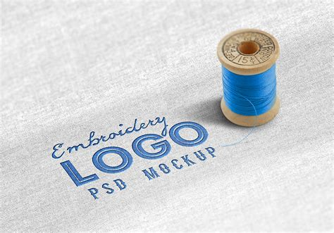 embroidery design mockup fabric embroidered logo mockup graphicsfuel