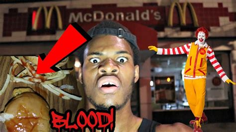 come to my house calling ronald mcdonald he came to my house and put blood in my food youtube