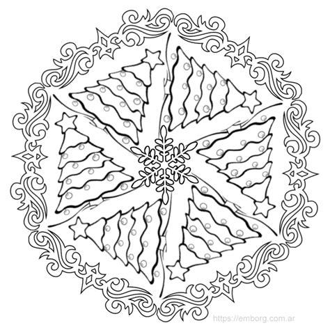 Imagenes De Mandalas Navide As Para Pintar | 7 mandalas de navidad para colorear celina emborg