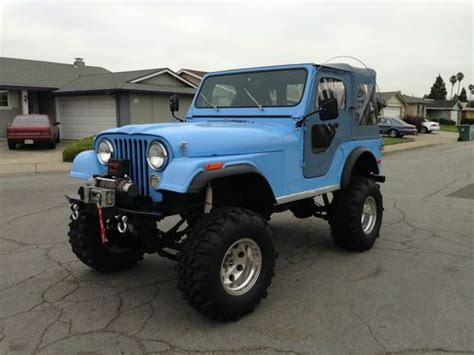 light blue jeep stiles stilinski buy used 1980 cj5 renegade custom rock crawler 123