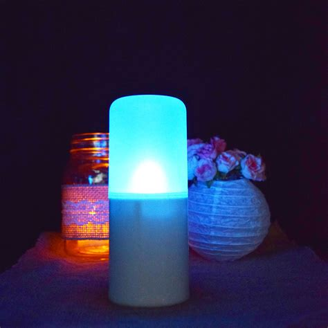 Colored Flameless Candles With Timer by Flameless 12 Color Led Candle Outdoor Light With Remote