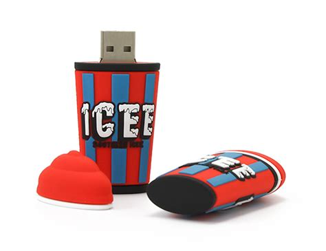 Usb Custom freezee or slurpee 3d custom usb flash drive