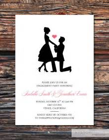 engagement invites printable diy sweet silhouette engagement