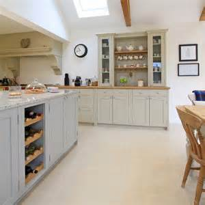 Bespoke Wine Cabinets In Frame Painted Shaker Kitchen In Pavilion Grey Amp Old