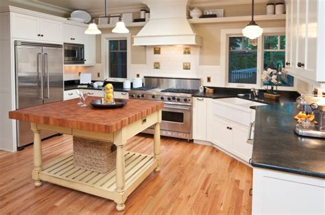 65 off wood kitchen island with black marble top tables 32 spectacular white kitchens with honey and light wood