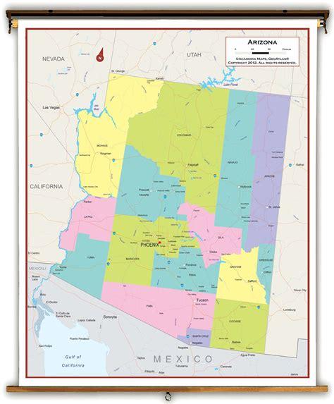 map world az political map of arizona my