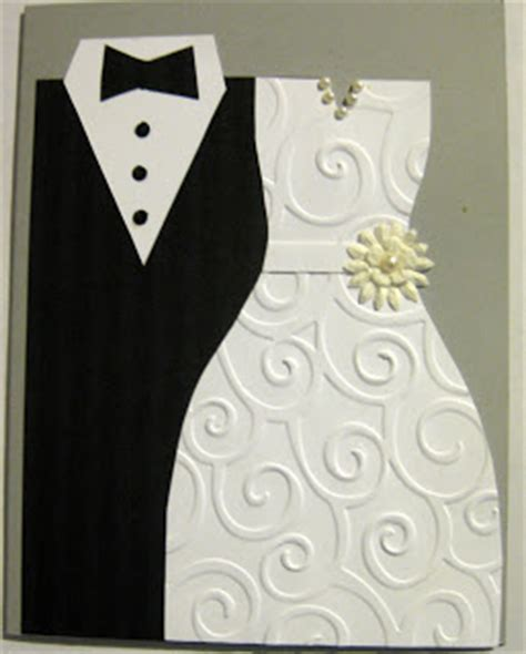wedding dress template for cards sassybee sts tuxedo and dress wedding card