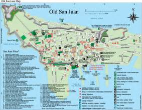 San Juan Puerto Rico Map old san juan tourist map old san juan puerto rico mappery