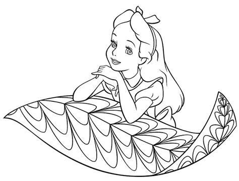 alice in wonderland coloring pages quot disney characters