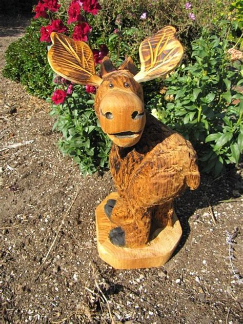 chainsaw carving moose chainsaw carving marty chainsaw