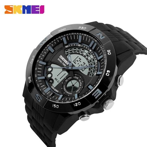 Jam Tangan Skmei Casio Led Ad1110 Blackblue skmei jam tangan analog digital pria ad1110 black gray