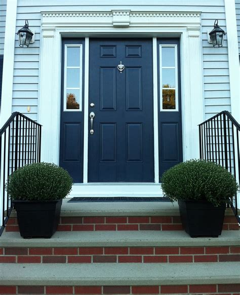 navy front door blue front door for a warm and friendly house