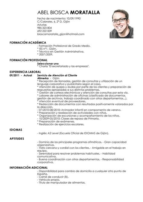 Modelo De Curriculum Vitae Espana Como Hacer Un Curriculum Vitae Como Hacer Un Curriculum En Espa 241 A