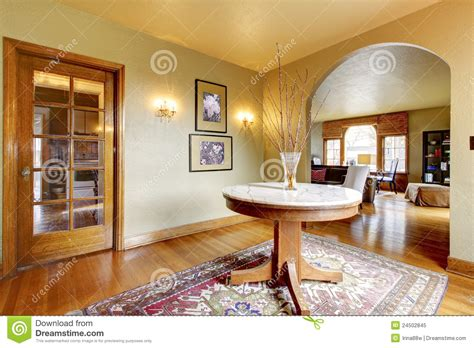 home inside entrance design luxury entrance home interior with round table stock