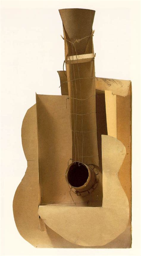 pablo picasso paintings guitar guitar 1912 pablo picasso wikiart org