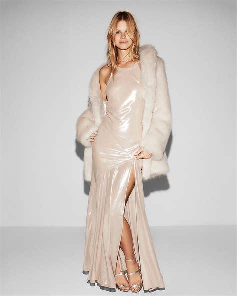 Dress Nella Maxi bomb product of the day express halter neck satin maxi dress fashion bomb daily style