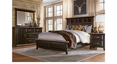nantucket breeze black 5 pc king panel bedroom