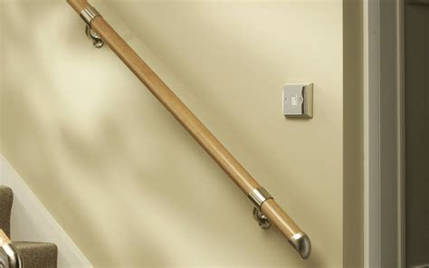 banister wall wall mounted handrail kits available in white oak pine