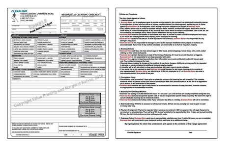 cleaning service forms templates cleaning service forms templates sletemplatess