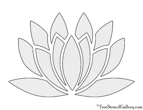 printable pictures of lotus flowers lotus flower stencil free stencil gallery