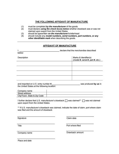 48 Sle Affidavit Forms Templates Affidavit Of Support Form Business Affidavit Template