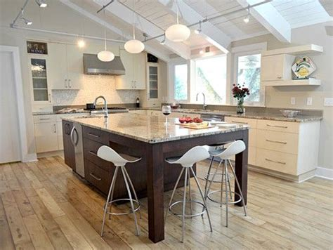Kitchen Island With Sink And Seating Modern Kitchen Island With Seating On The End And Corner Sink Kitchen The End