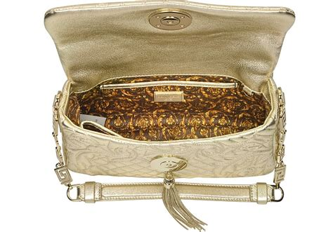 Versace Laminated Hit Bag by Versace Gold Laminated Vanitas Medea Shoulder Bag