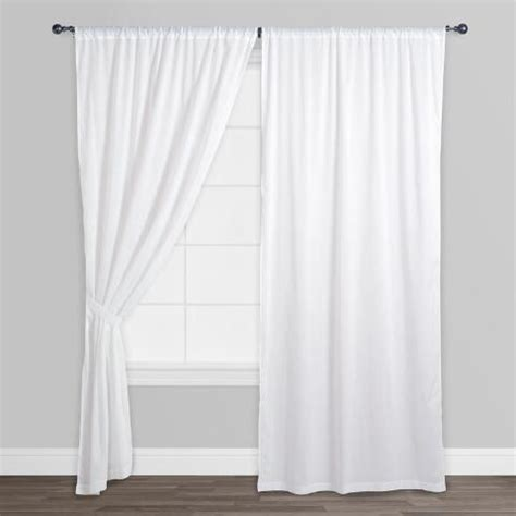 white cotton voile curtains white cotton voile curtains set of 2 world market