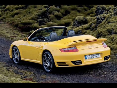 2008 porsche 997 turbo 2008 porsche 911 997 turbo cabriolet rear angle moss