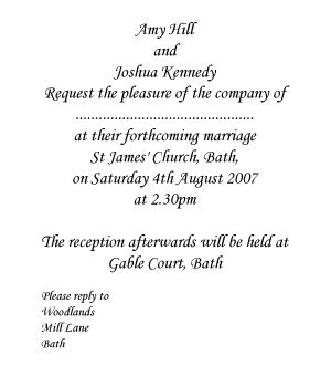 wedding invitations wording from and groom informal and formal arrangements wedding