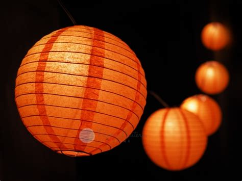 How To Make Paper Lantern String Lights - o lantern pumpkin paper lantern string