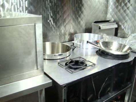 table food truck dumpling steam oven and wok table for food truck