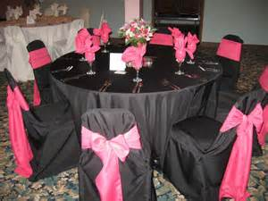 pink and black wedding decor married 02 26 2010