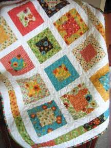 or baby quilt pattern and easy layer cake or