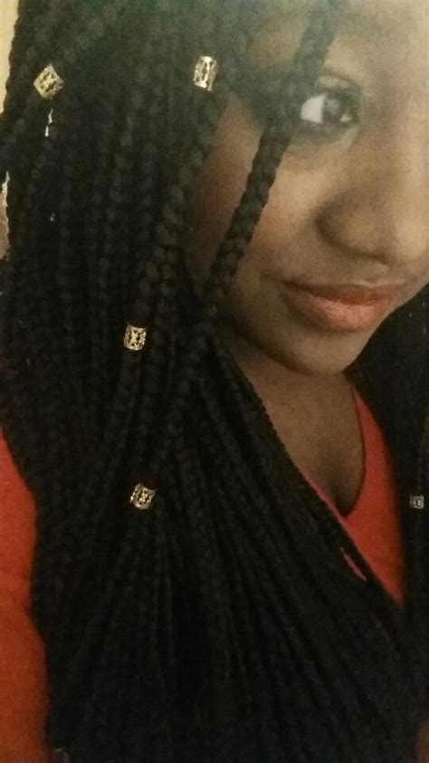 Gold Tone Hair Cuffs For Box Braids Twists Or
