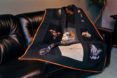 Harley Davidson Quilts For Sale by T Shirt Quilts Memory Quilts Made From Your T Shirts T