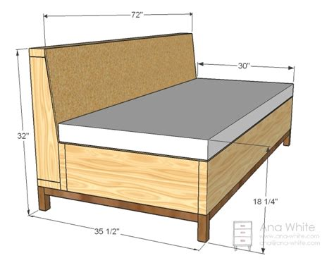 couch frame plans ana white storage sofa diy projects