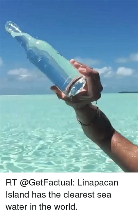 the clearest water in the world rt linapacan island has the clearest sea water in the world meme on me me
