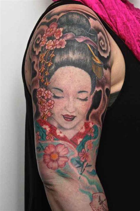 tattoo japanese face japanese woman arm tattoo design tattooshunt com