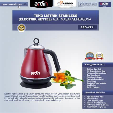 Jual Teko Listrik Di Surabaya teko listrik stainless electrik kettel ard kt11 toko