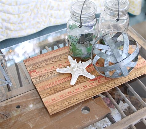 quick decor quick easy 10 minute decorating yardstick tray
