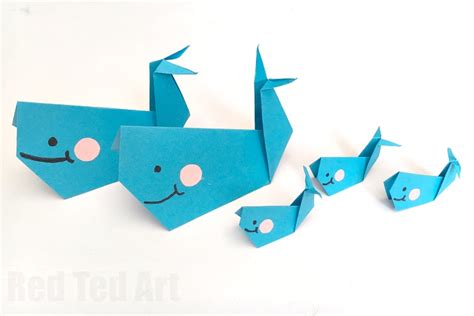 How To Make Paper Whale - easy origami whale paper crafts for ted s
