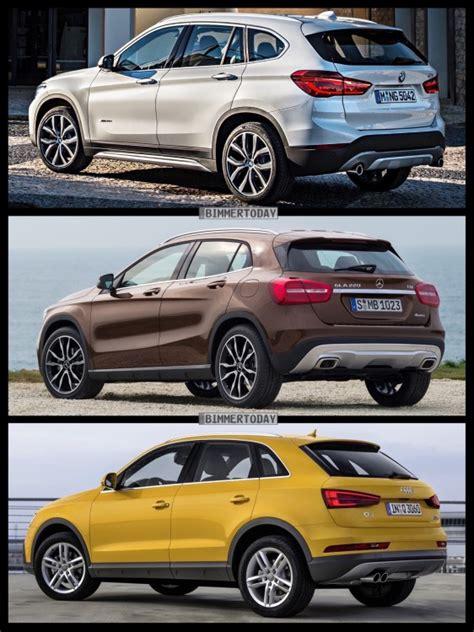 Bmw 1er X1 Vergleich by 2016 Bmw X1 Vs Audi Q3 Vs Mercedes Gla Photo Comparison