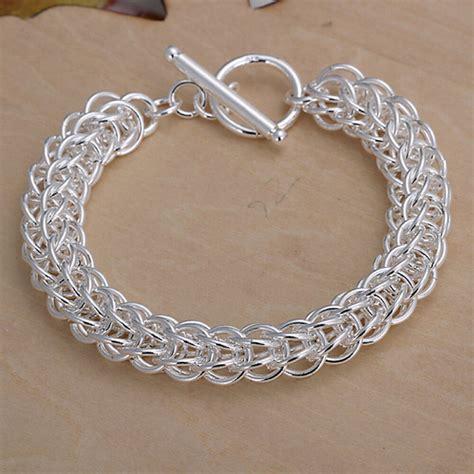 925 Sliver Bracelet s unisex 925 sterling silver bracelet 8 quot l56 ebay