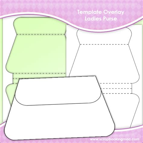 purse shaped card template template overlay purse sheet 163 0 83