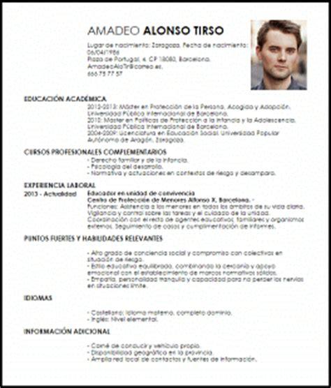 Ejemplo De Curriculum Vitae Trabajo Social Modelo Curriculum Vitae Trabajador Social De Protecci 243 N A La Infancia Livecareer