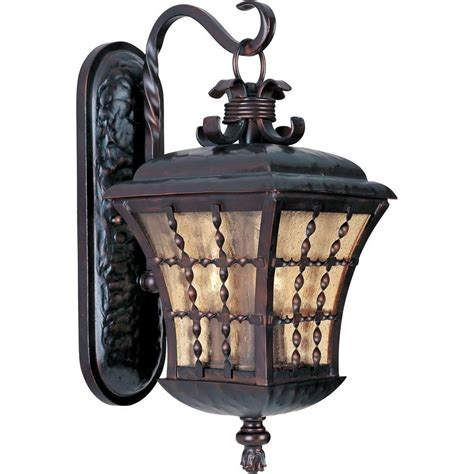 Outdoor Lighting On Sale Maxim Lighting Orleans 3 Light Rubbed Bronze Outdoor Wall Mount 30495asoi The Home Depot