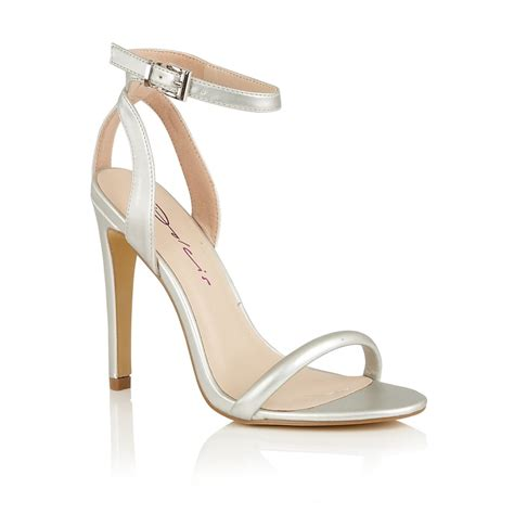 silver heeled sandals buy dolcis laurie sandals in silver metallic