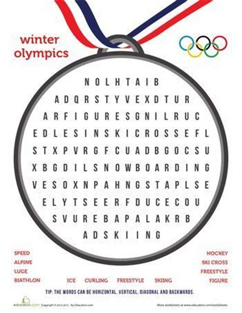 6 winter olympic sports skills you can incorporate into your 29 best images about olympic worksheets on pinterest