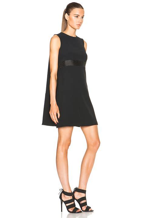 Minidress Cape mcqueen cape back mini dress in black lyst
